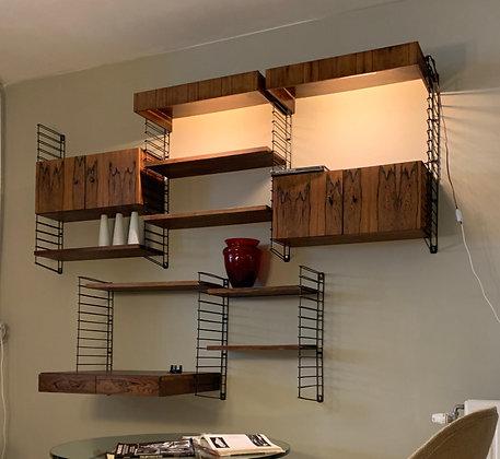 Vintage palissander wandsysteem design wall system