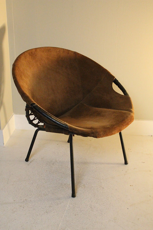 Vintage kuipstoel, balloon chair, Lusch & Co Jaren 60.