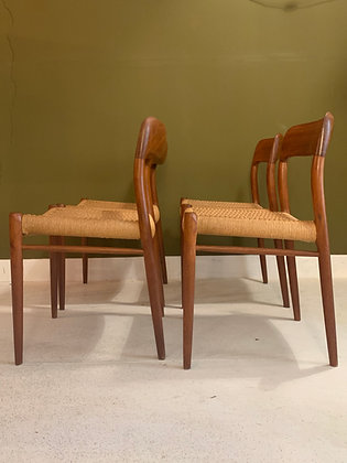 Niels Otto Moller nr 75 Danish dining chairs