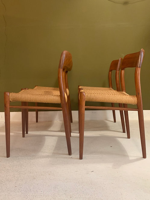 Niels Otto Moller nr 75 Danish dining chairs (SOLD)