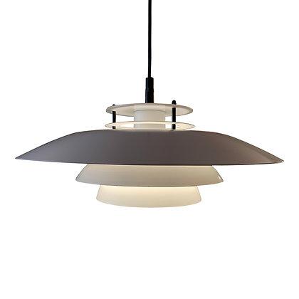 Deense schalenlamp wit/ Danish ceiling light white