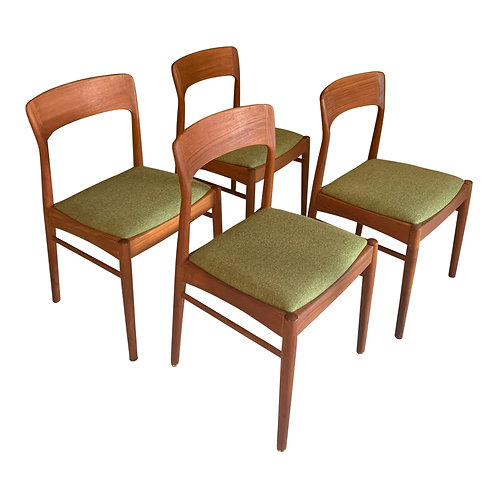 Kai Kristiansen 4 dining chairs Korup Stolefabrik Danish design (SOLD)