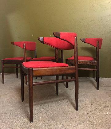 Danish cowhorn dinning chairs