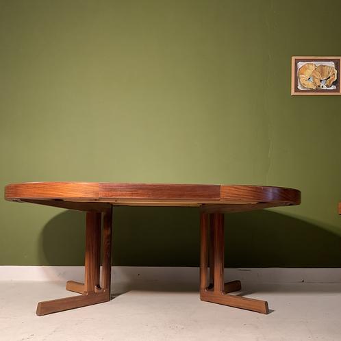 Vintage palissander ronde eettafel van Johannes Andersen