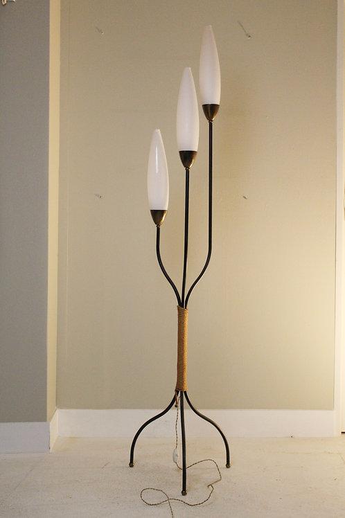 Vintage jaren 50 sprietenlamp, kelkjes lamp.