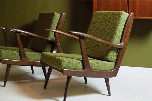 Vintage Gelderland fauteuils, van B. Spuij's