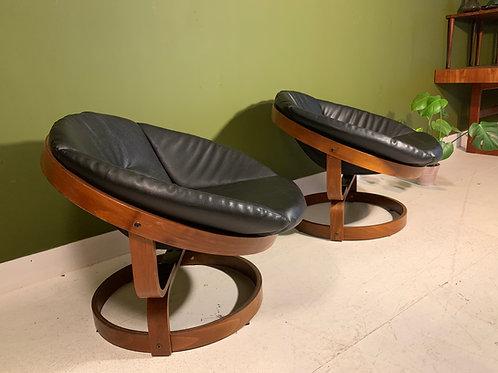 Vintage Swivel chair Soda Galvano Scandinavian chairs 70'