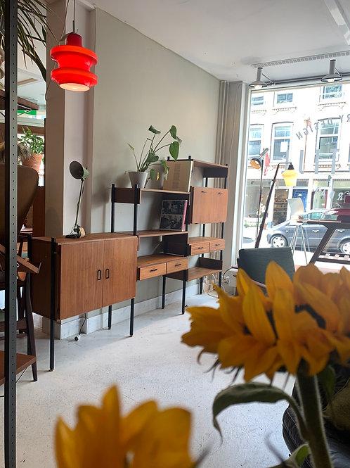 Simpla lux wall unit vintage design cabinet teak