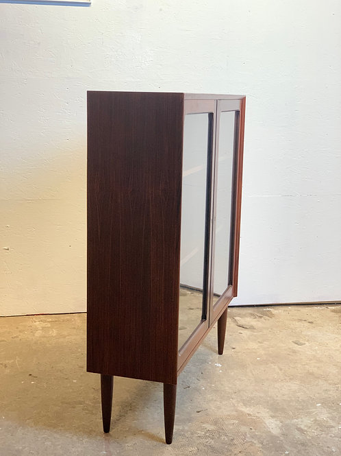 Vintage palissander vitrinekast Brouer Mobler kast