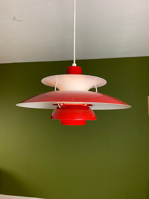 Louis Poulsen PH 5 plafondlamp rood