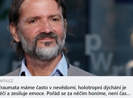 Zakladatel Holosu MUDr. Milan Hrabánek v DVTV