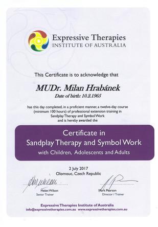 Certifikát Sandplay