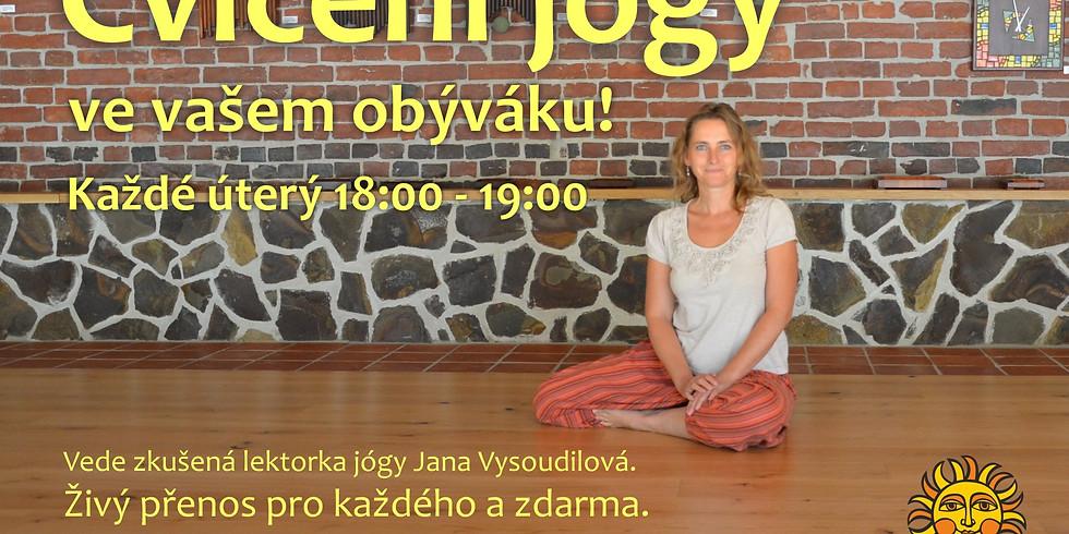 Cvičení jógy ve vašem obýváku
