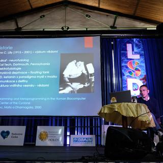 Petr Reimer při přednášce