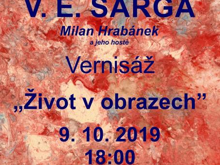 Výstava V. E. Sargy - Milana Hrabánka v Holos Centru 10-11/2019