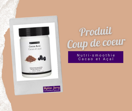 Epicure: Nutri-smoothie Cacao et Açaï