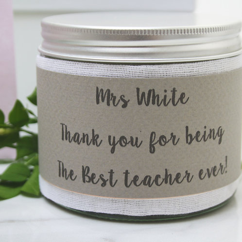 Thank You Teacher Candle