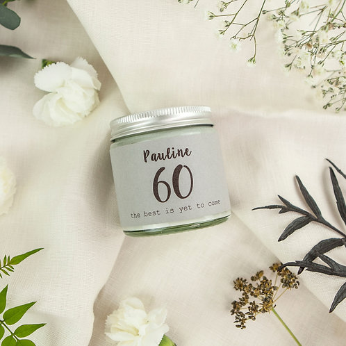 60th Birthday Scented Candle