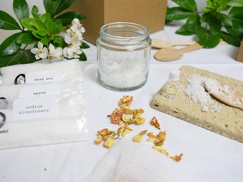 Make Your Own Wellbeing Bath Soak Kit