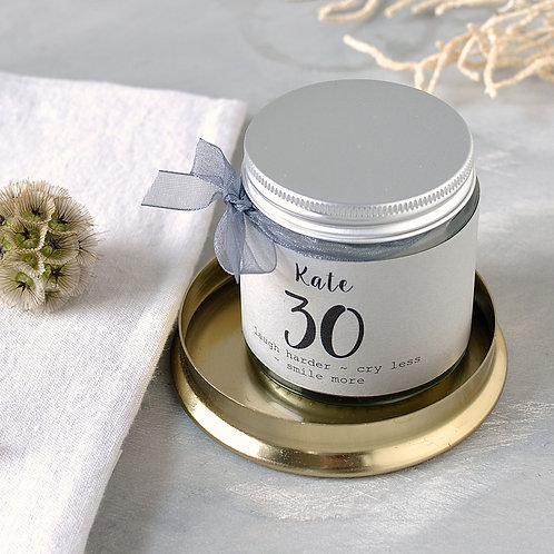 30th Birthday Scented Candle