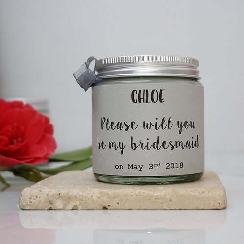 Please Be My Bridesmaid Scented Candle