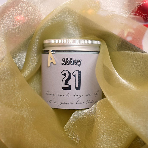 21st Birthday Scented Candle