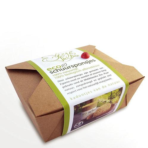 Eco-schuursponsje | geschenkset