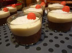 Duo mousses chocolat noir et blanc