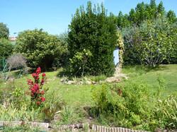 puits jardin derrière maison