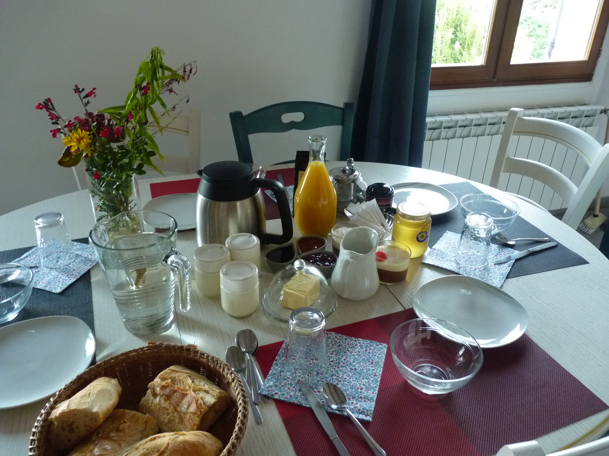 petit-déjeuner chambre d'hôte