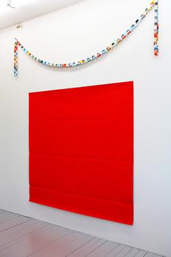 Vermilion Fold 2011 acrylic on canvas