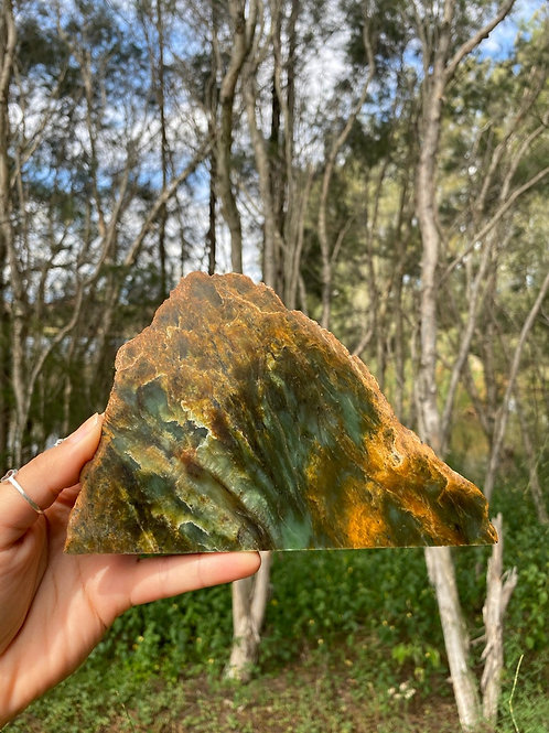 Raw and polished - Russian nephrite Jade