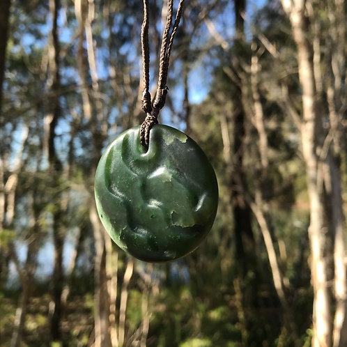Ridges pendant (Canadian jade)