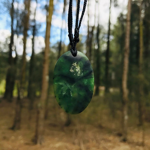 Oval pendant (Indonesian Jade)