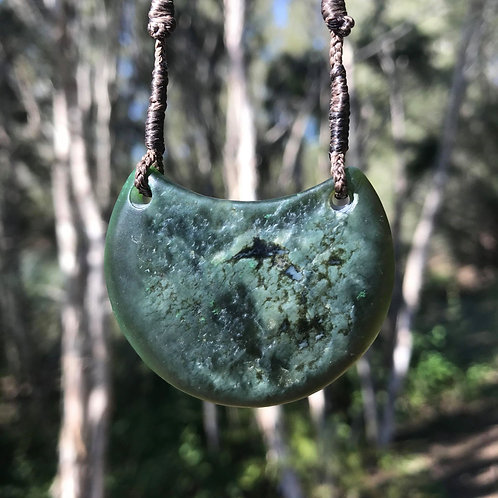 Shield pendant (Canadian jade)