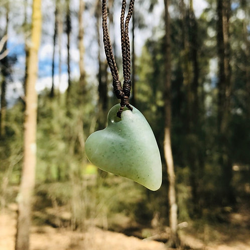 Love Heart Pendant (Russian Jade)