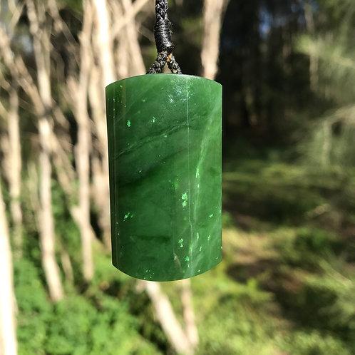 'Pillar' pendant (Canadian jade)