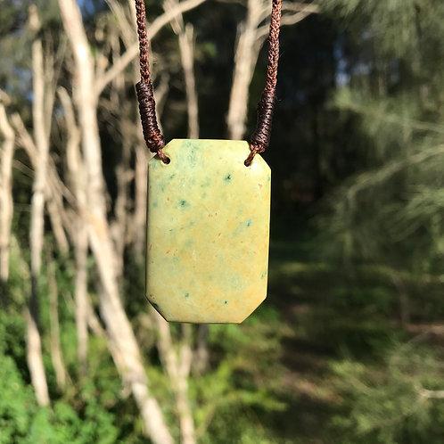 Plaque pendant (New Zealand flower jade)