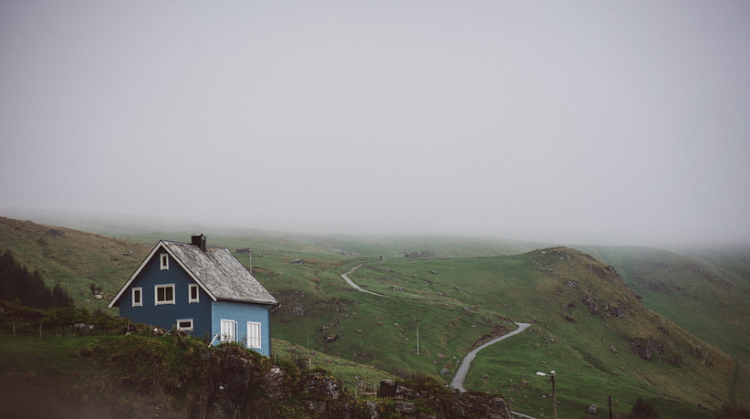 Lonely house on Runde