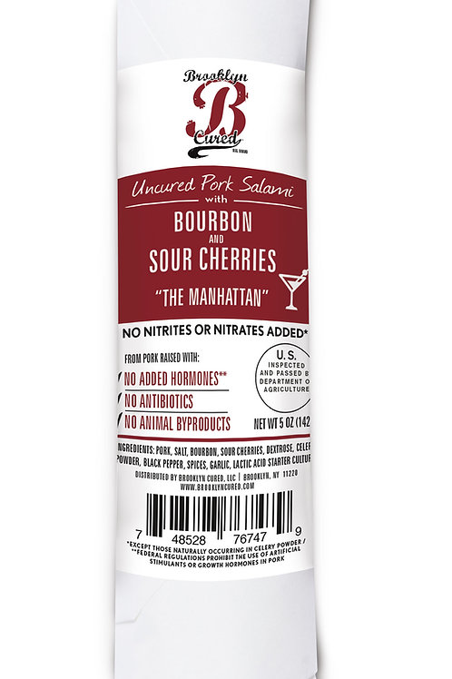Pork Salami with Bourbon and Sour Cherries, 5 oz. (Pack of 3)