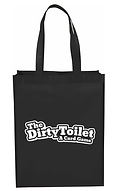 Dirty Toilet Game Bag Black and White.pn