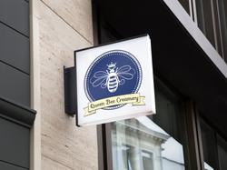 Queen Bee sign mockup