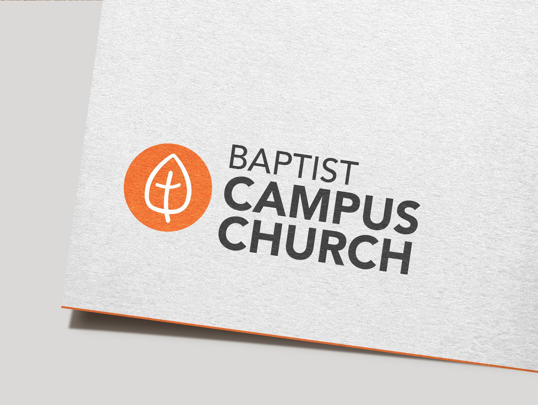 baptist campus church logo mockup
