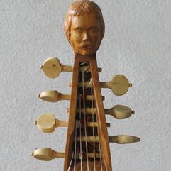 7 string french Bass Viola da Gamba, based on a model by Romain Chéron, 18th century, Paris.