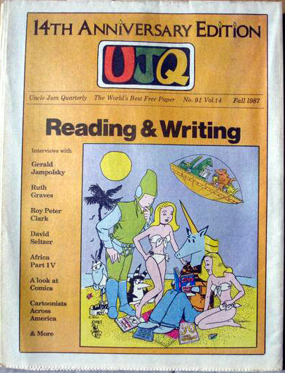 Uncle Jam issue 91 vol. 14  featuring cover art by Moebius,   RC Williams, Trina