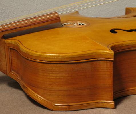 Italian Bass Viola da Gamba, based on a model by Gasparo da Saló, end of the 16th century.