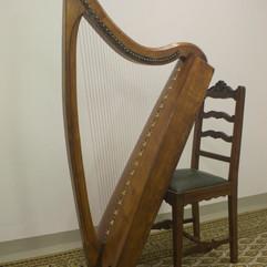 NMI Carolan Harp, nr.1945.122 (aka Rose Mooney Harp)
