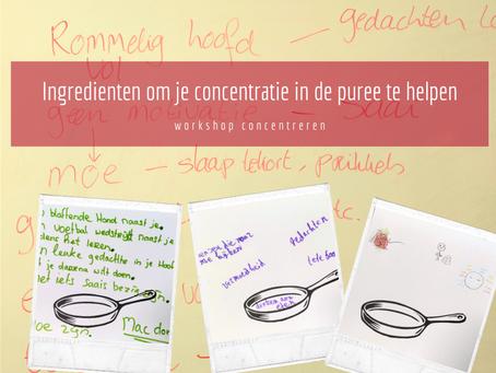 Ingrediënten om je concentratie in de puree te helpen