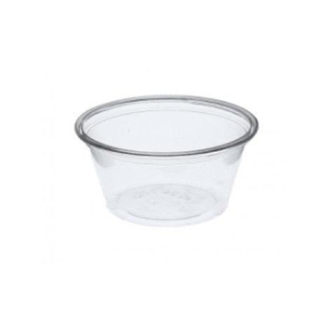 Tarrina de plástico transparente sin tapa 60/70cl (100/50) uds.