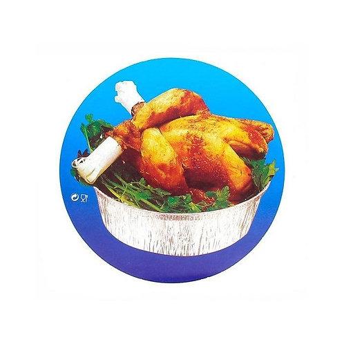Tapa para envase de aluminio 1/2 pollo (125 uds).